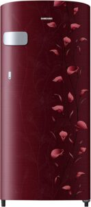 Samsung 192 L 2 Star Direct Cool Single Door Refrigerator(RR19N1Y12RZ/HL / RR19R2Y12RZ/NL, Tender Lily Red)