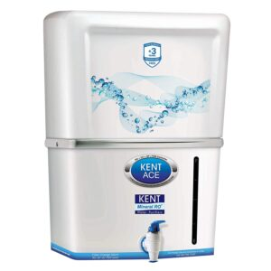 Kent Ace Mineral 7-Litre 60-Watt RO+UV+UF Water Purifier (White and Aquamarine)