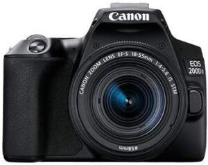 Canon EOS 200D II 24.1MP Digital SLR Camera + EF-S 18-55mm is STM Lens + EF-S 55-250mm is STM Lens