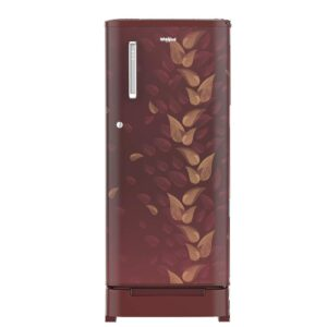 Whirlpool 190 L 3 Star Direct-Cool Single Door Refrigerator (WDE 205 ROY 3S, Wine Fiesta, Toughened Glass Shelves) with Base Drawer