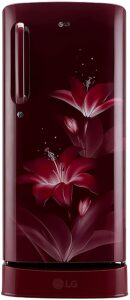 LG 190 L 4 Star Inverter Direct-Cool Single Door Refrigerator (GL-D201ARGY, Ruby Glow)