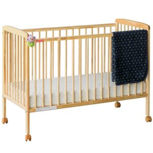 Fisher-Price Natural Wood Crib/Cot for Baby's Joy