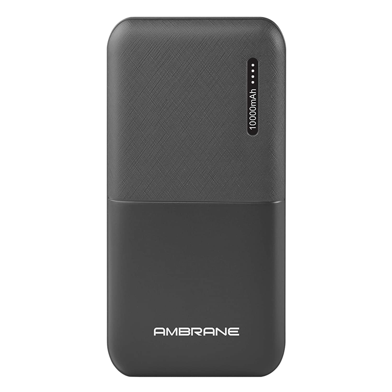 Ambrane 10000mAh Li-Polymer Powerbank with Compact Size & Fast Charging for Smartphones, Smart Watches, Neckbands & Other Devices (Capsule 10K, Black)