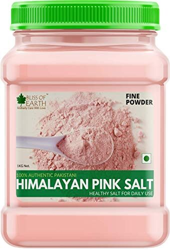 Bliss of Earth 1KG Fine Powder Pakistani Himalayan Pink Salt Non Iodised for Weight Loss & Healthy Cooking, Natural Substitute of White Salt