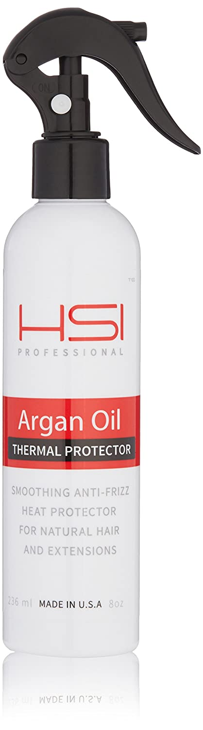 Hsi Professional #1 Thermal Protector 450 With Argan Oil For Flat Iron, Infused With Vitamins A,B,C & D Creates Silky, Smooth And Healthy Hair Sulfate Free Made In Usa