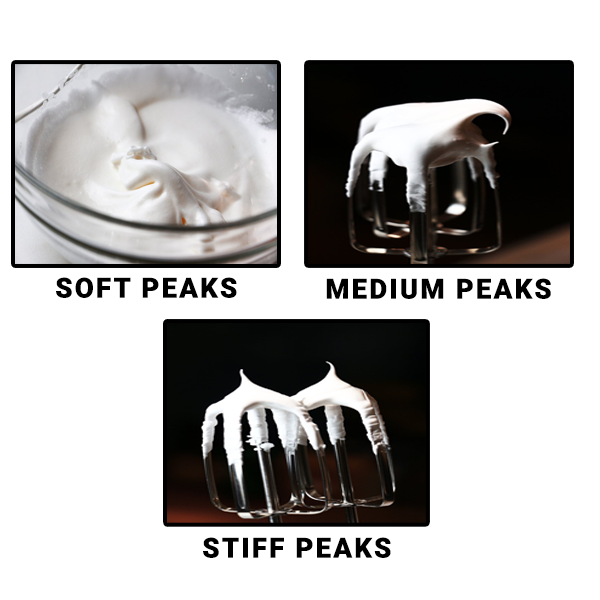Types of Peaks in Whipped Cream