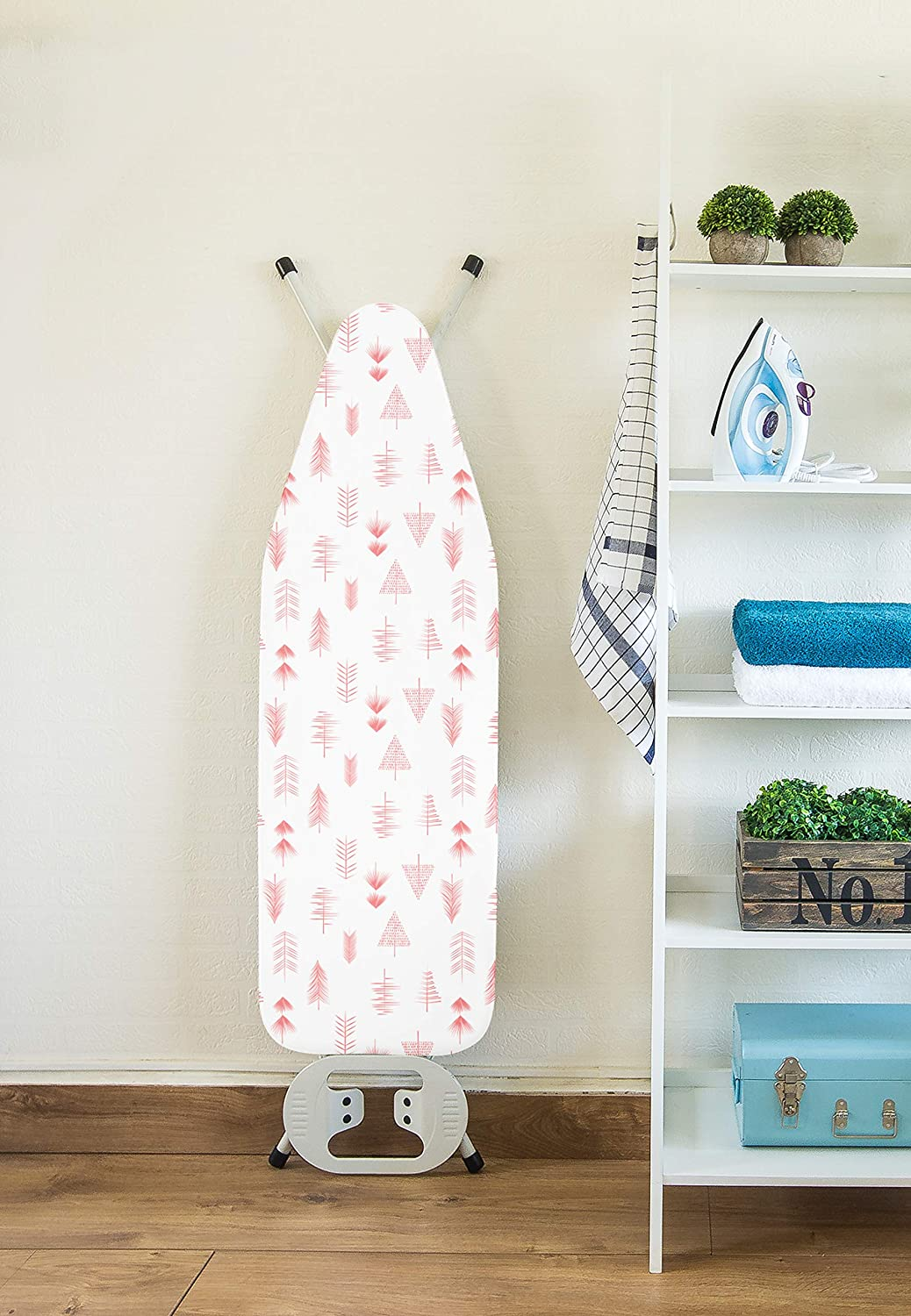Encasa Homes Ironing Board Cover with 3mm Thick Felt Pad for Steam Press