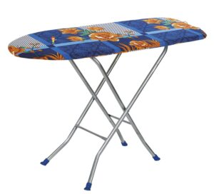 Flipzon Wooden Self Standing 18 inch Unique Folding Premium Ironing Board with Iron Stand