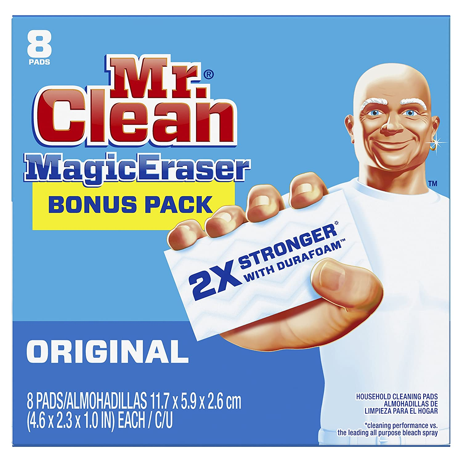 Mr Clean Magic Eraser Cleaning Pads, 8-Count Box