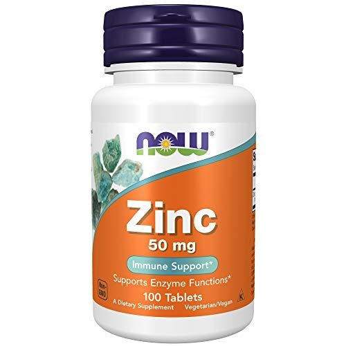 NOW Foods Zinc 50 mg - 100 Tablets