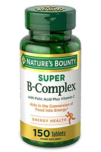 Nature's Bounty, Super B-Complex with Folic Acid Plus Vitamin C, 150 Coated Tablets