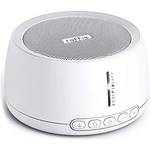 Roffie White Noise Machine with 30 Sounds, 35 Levels of Volume,Timer&Memory Functions Sound Machine Power by AC/USB Non-Looping Soothing Sounds for Kid Adult Nursery Home Office Travel