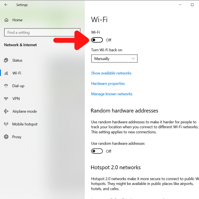 Turn OFF Bluetooth and Wi-Fi when not in use