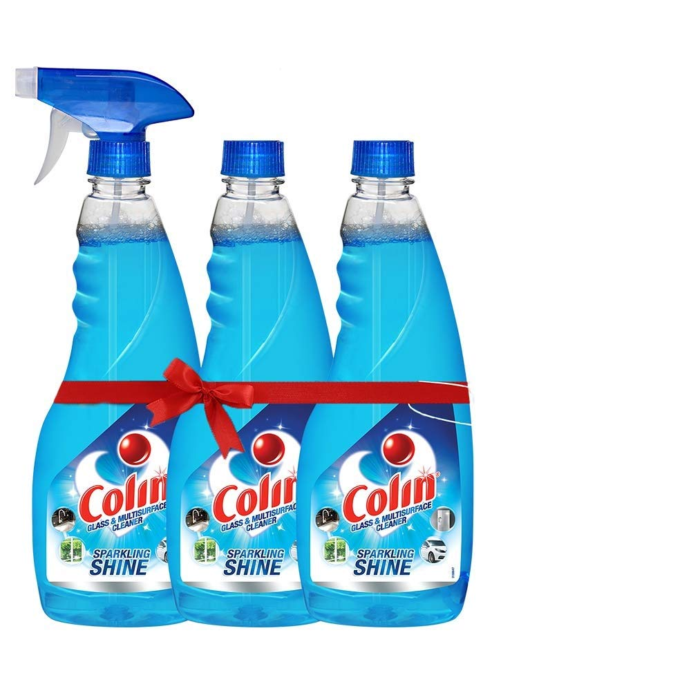 Colin Glass Cleaner Spray - 500 ml (Pack of 3)