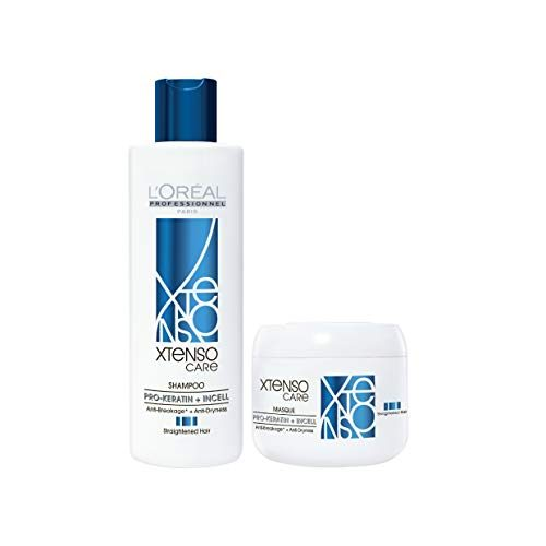 L'Oréal Professionnel Xtenso Care Shampoo + Masque Combo Pack | For straightened hair | Smoothens, nourishes and strengthens hair | With Pro-Keratin and Incell