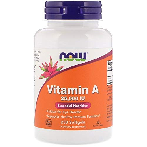 Vitamin A from Fish Liver Oil, 25000IU, 250 Sgels by Now Foods (Pack of 3)